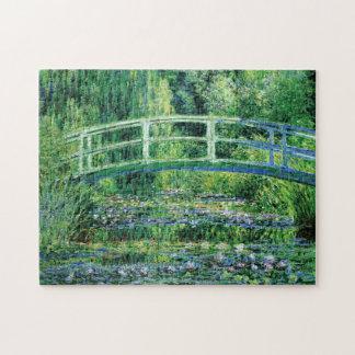 Monetのスイレンおよび日本のな橋ファインアート ジグソーパズル