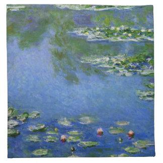 Monetのスイレンのファインアート(1906年) ナプキンクロス