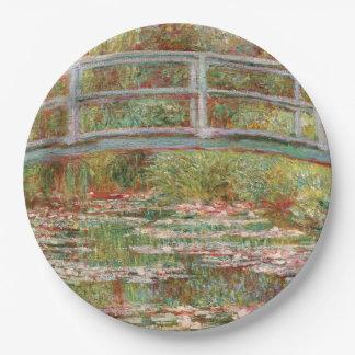 Monetのスイレンの池 ペーパープレート