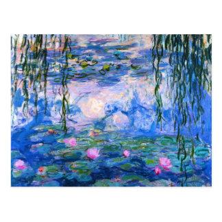 Monetのスイレンの郵便はがき ポストカード