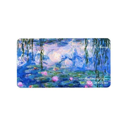 Monetのスイレン ラベル