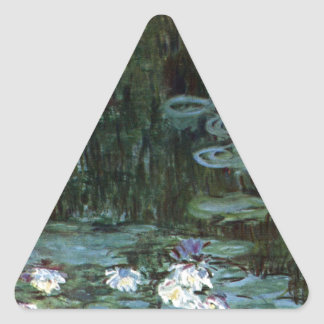 Monetのスイレン 三角形シール
