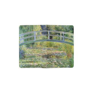Monetのファインアートによる水ユリの池 ポケットMoleskineノートブック