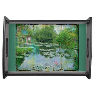 Monetのユリの池の家 トレー