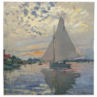 Monetのヨットのフランス人の印象派 ナプキンクロス