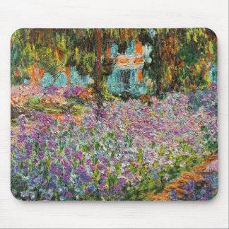 Monetの庭のアイリス マウスパッド