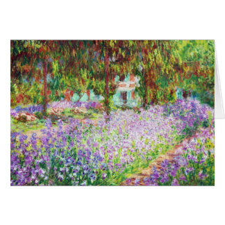Monetの庭クロード・モネのアイリス カード