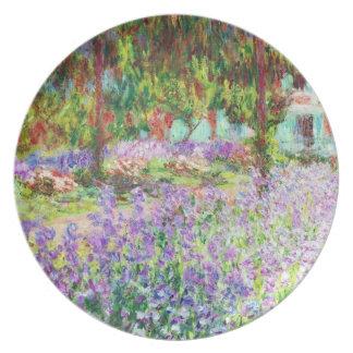 Monetの庭クロード・モネのアイリス プレート