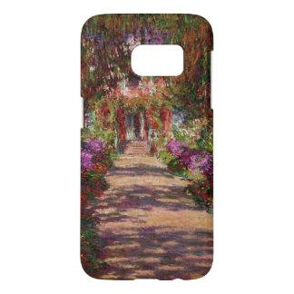 Monetの庭、クロード・モネ著Givernyの道 Samsung Galaxy S7 ケース