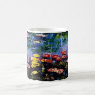 Monetの紫色のスイレンのマグ コーヒーマグカップ