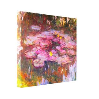 Monetの紫色のスイレン キャンバスプリント