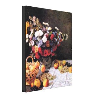 Monetの花およびフルーツのファインアートの絵画のプリント キャンバスプリント