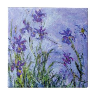 Monetの薄紫のアイリスタイル タイル