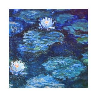 Monetの青いファインアートのスイレンの池 キャンバスプリント