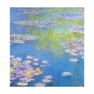Monetの黄色のスイレン キャンバスプリント