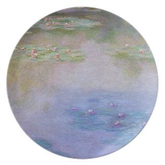 Monetの3のスイレン2 プレート