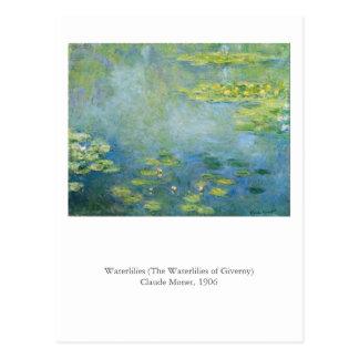 Monetの《植物》スイレン はがき