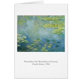 Monetの《植物》スイレン カード