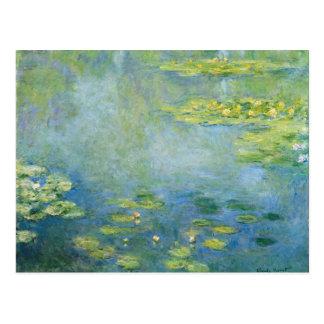 Monetの《植物》スイレン ポストカード