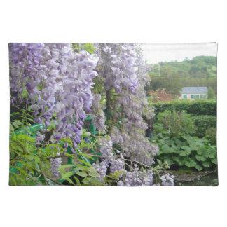 MonetのGivernyのランチョンマットの藤 ランチョンマット