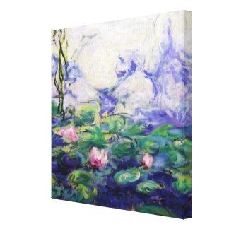 Monetはスイレンをインスパイア キャンバスプリント