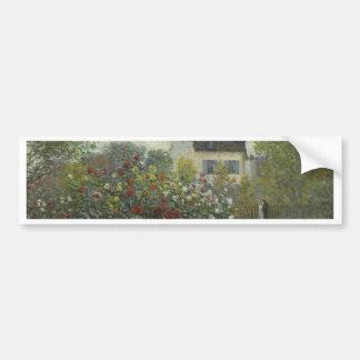 Monetアルジャントゥーユの芸術家の庭 バンパーステッカー