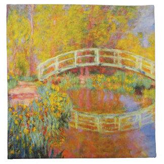 Monet日本のな橋ナプキン ナプキンクロス