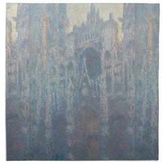 Monet著ルーアンのカテドラルの朝ライトの入口 ナプキンクロス