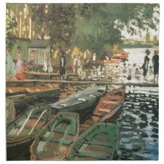 Monet著水浴者 ナプキンクロス