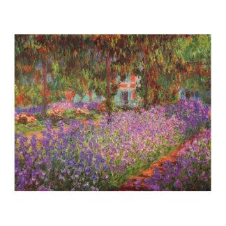 Monet著Givernyの芸術家の庭 ウッドウォールアート