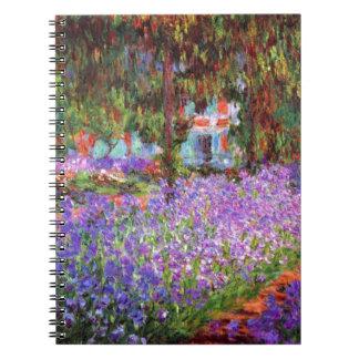 Monet著Givernyの芸術家の庭 ノートブック