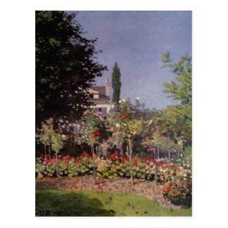 Monet、クロウドBlか。Sainte-Adresse uのhender Garten ポストカード