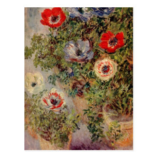 Monet、クロウドStilleben mit Anemonen um 1885年のc. 18 ポストカード
