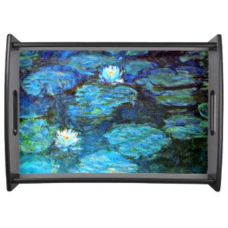 Monet -スイレン(青い) トレー