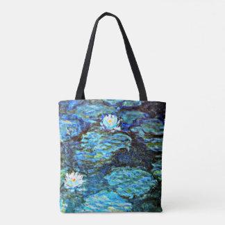 Monet -スイレン(青い) トートバッグ