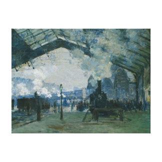 Monet -レプリカ著ノルマンディーの列車の到着 キャンバスプリント