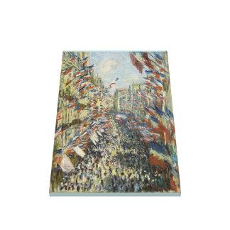 Monet 1878パリの通りMontorgueil キャンバスプリント