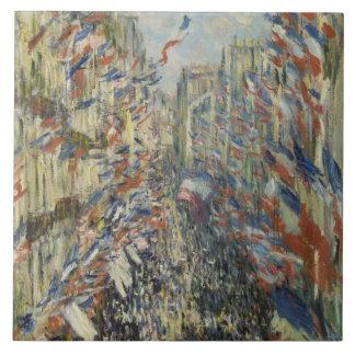 Monet 1878パリの通りMontorgueil タイル