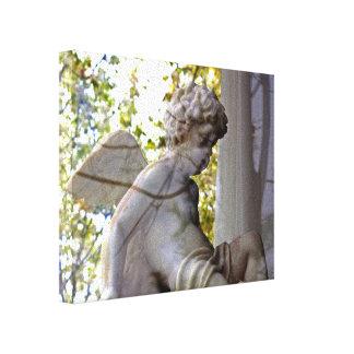 Monet Ange Dans La Fenetre キャンバス 張りキャンバスプリント