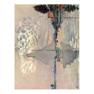 Monet、Le小さいGennevilliersのクロウドSegelboot ポストカード