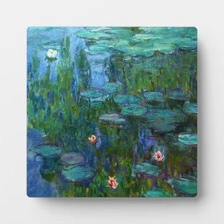 Monet Nympheasのスイレンのプラク フォトプラーク