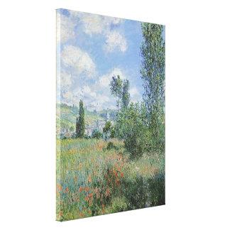 Monet Vetheuil 30x40のキャンバスプリント キャンバスプリント