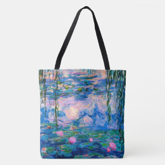 Monet Water Lilies with Pond Reflections トートバッグ