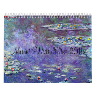 Monet Waterlillies 2015年 カレンダー