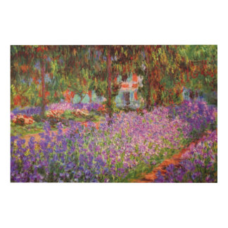 Monet XL著Givernyの芸術家の庭 ウッドウォールアート