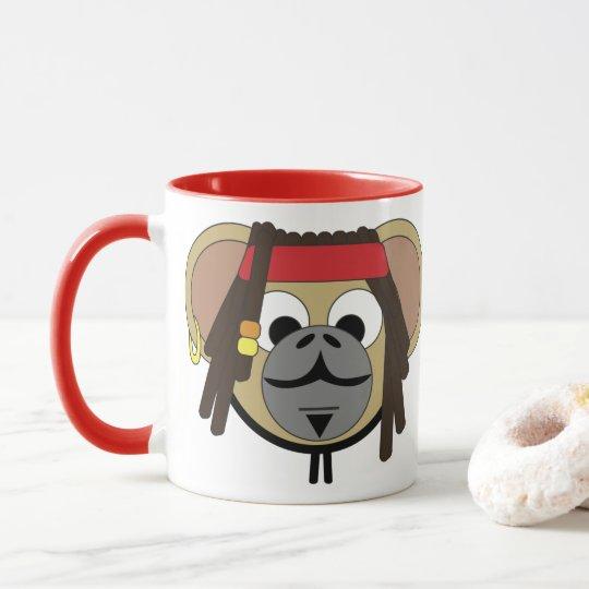 MonkeyジャックJungle Pirate大尉の漫画動物 マグカップ