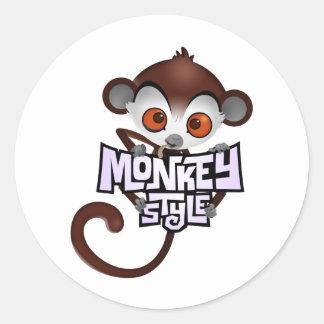 MonkeyStlye logo3 ラウンドシール