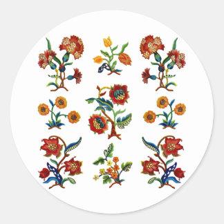 Monmouthの伝統的なJacobean刺繍 ラウンドシール