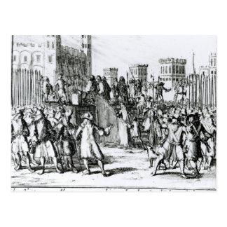 Monmouthの公爵の実行 ポストカード