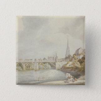 Monmouthの橋 5.1cm 正方形バッジ